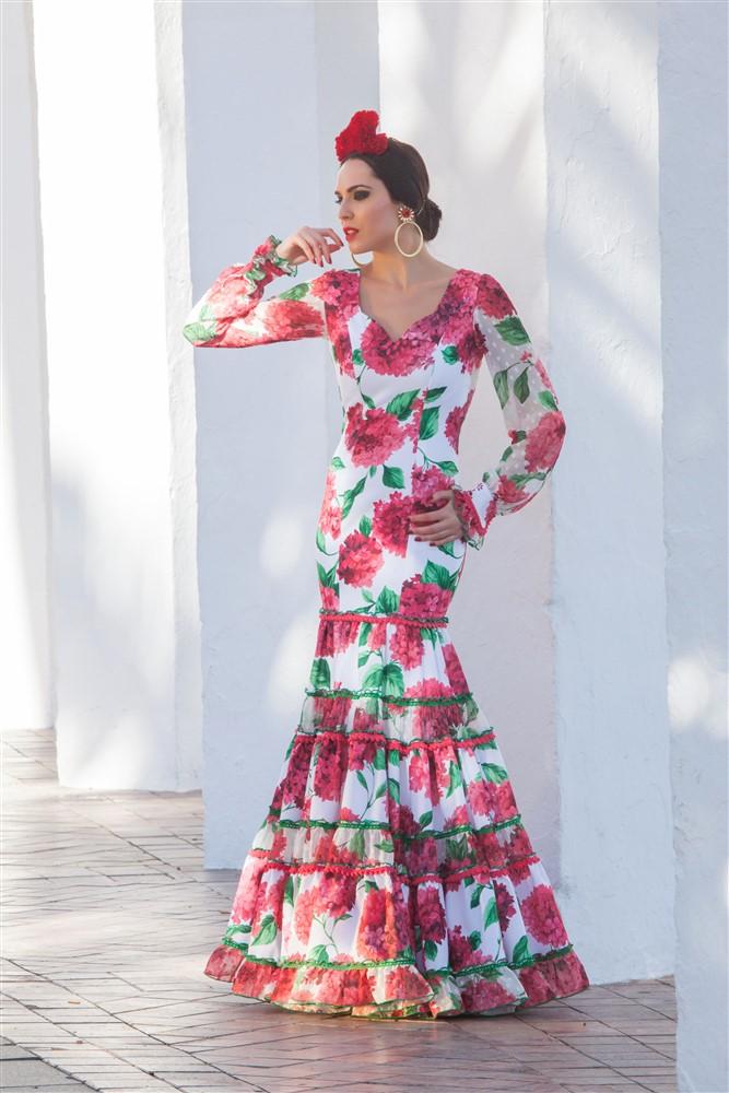 traje flamenca flores