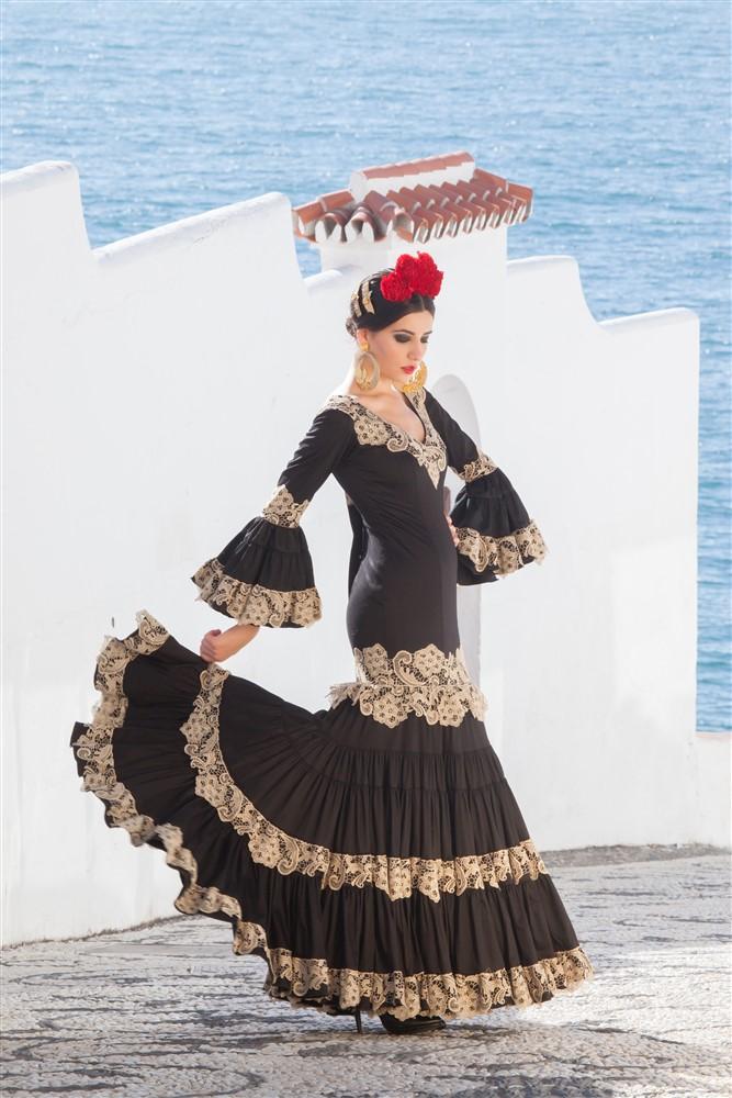 traje de flamenca maestranza