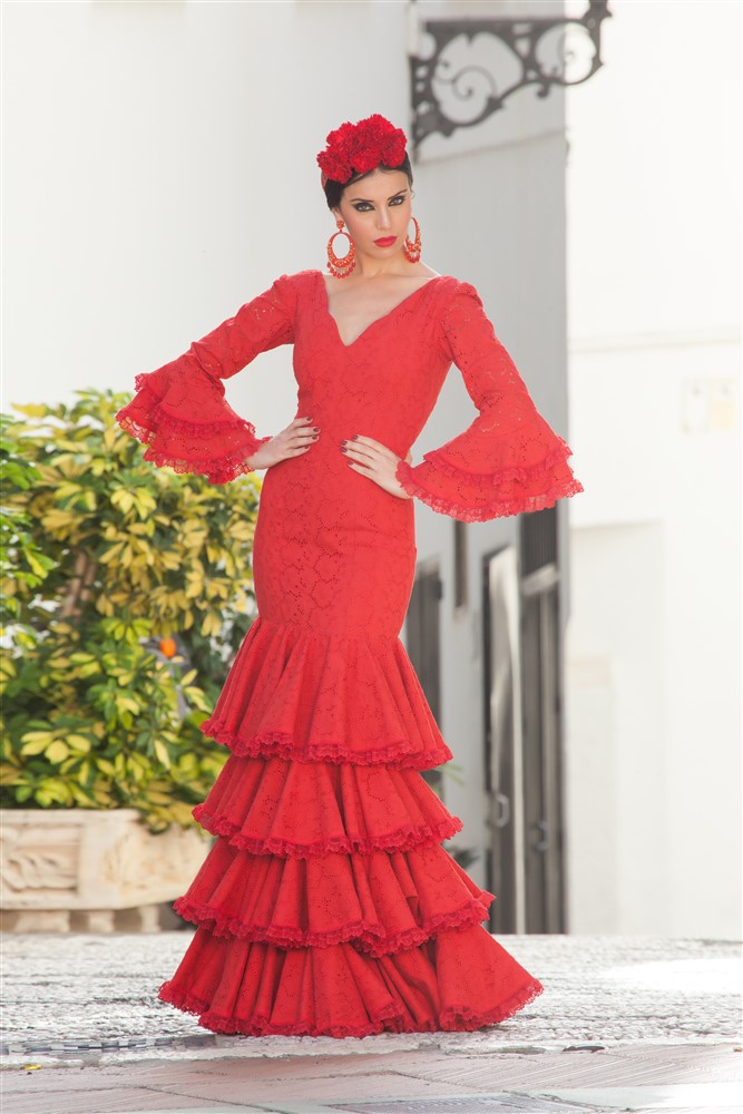 traje flamenca rubí