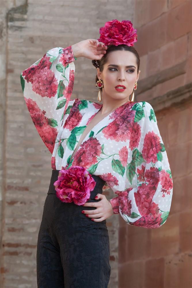 conjunto flamenco hortensias