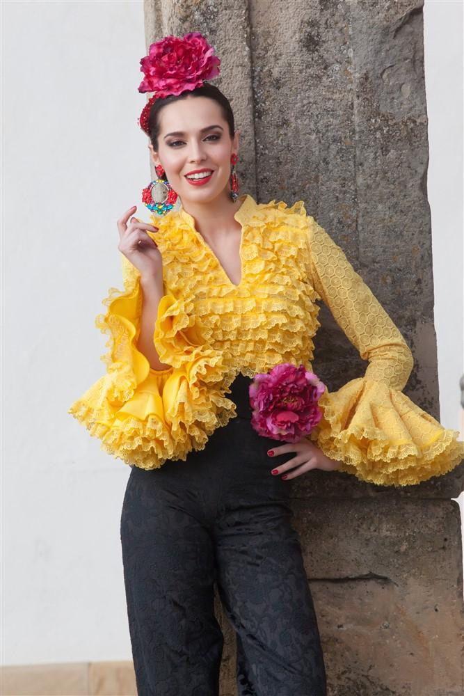 camisas flamencas mujer
