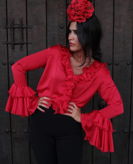 camisa de flamenca roja