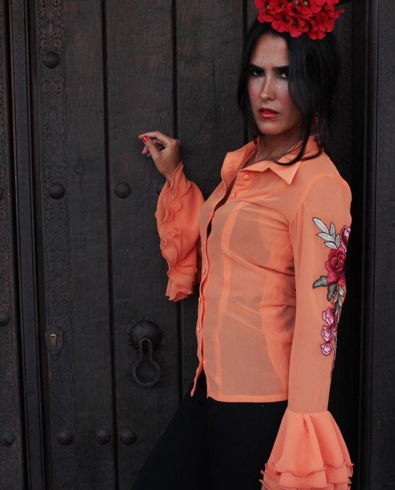 camisa flamenca naranja