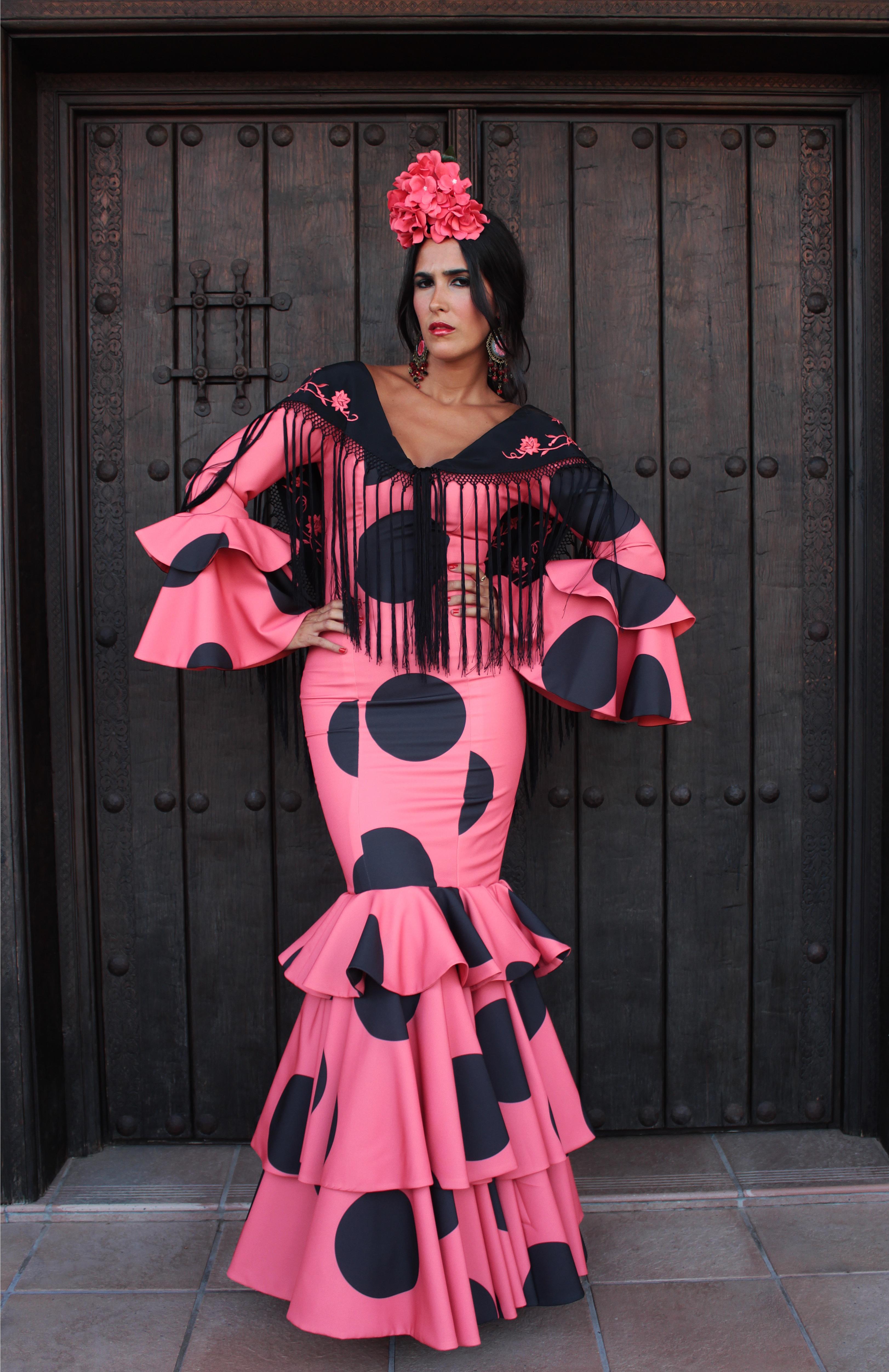 Traje de Flamenca Coral- Flamenca Gómez