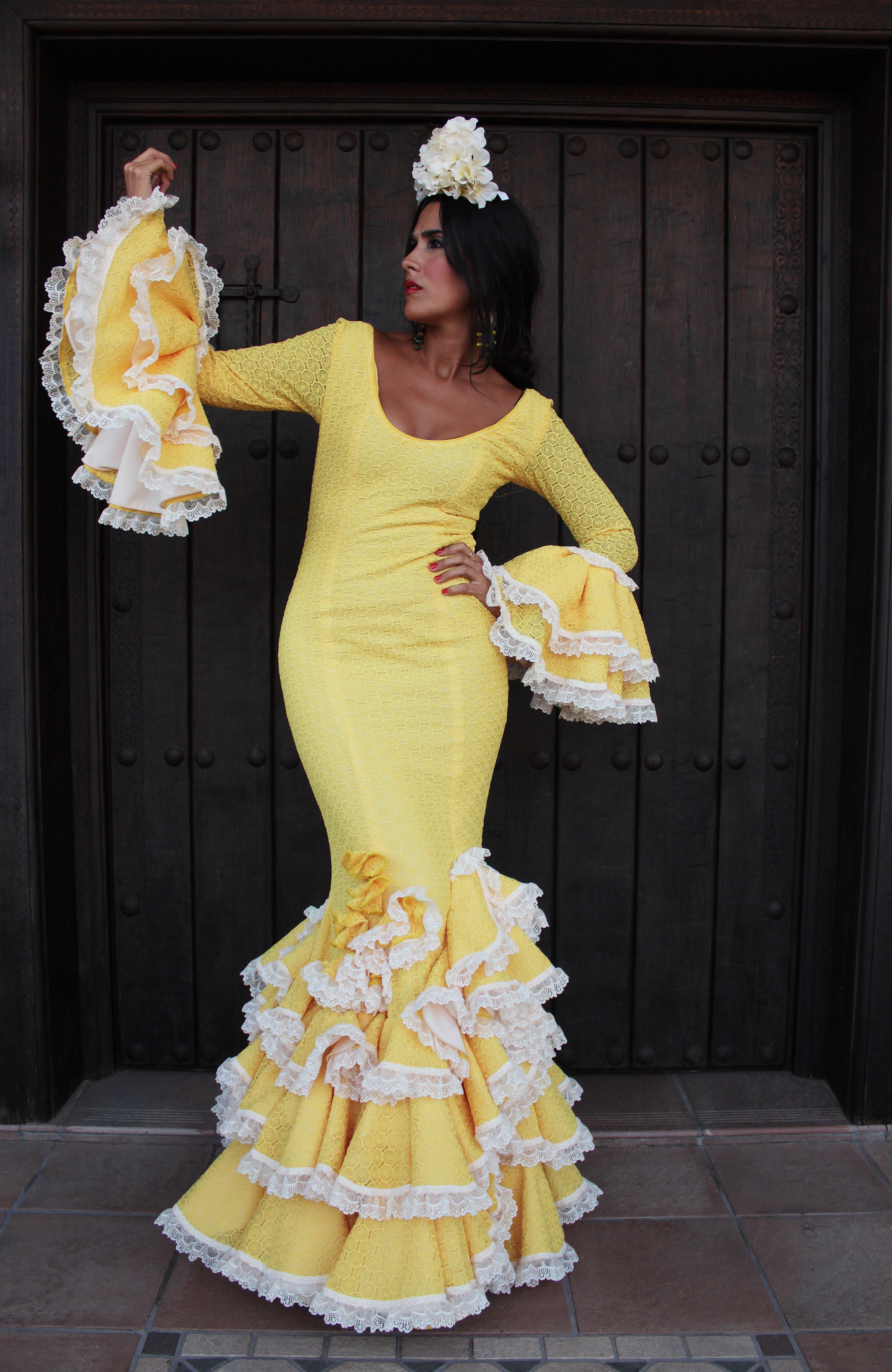 Traje Flamenca Amarillo Fresia
