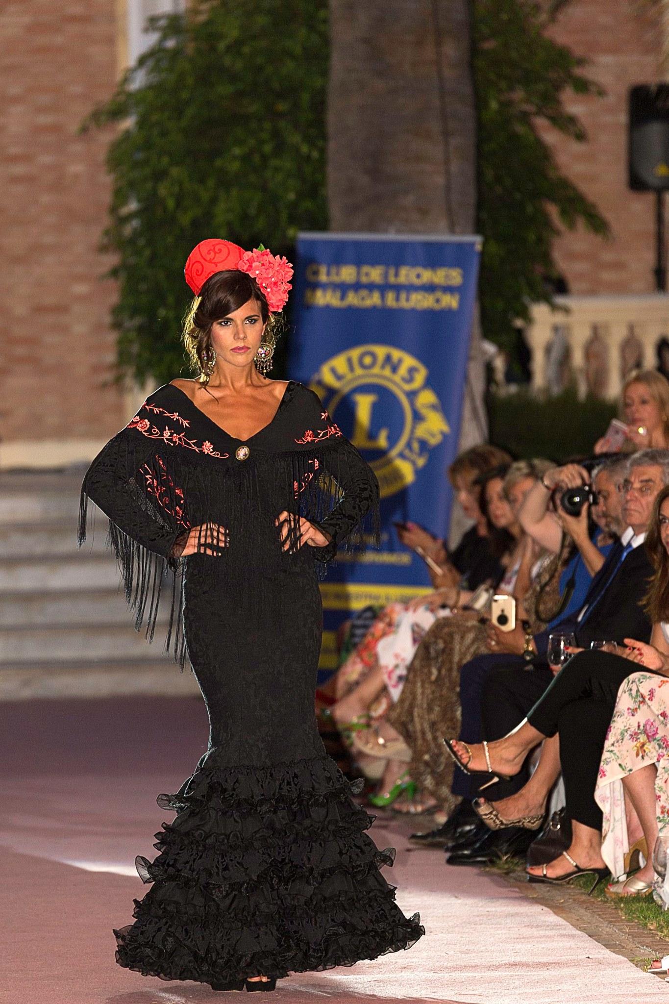 traje flamenca negro